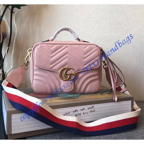 6e2cc58a95d7 Gucci GG Marmont small Pink shoulder bag. Loading zoom