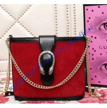Gucci Dionysus medium bucket bag Red Suede