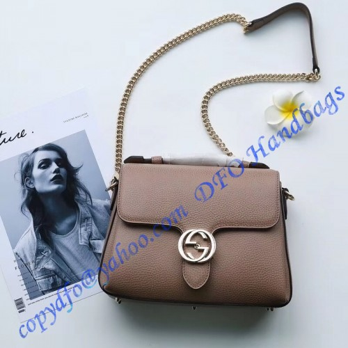 8a717167edc Gucci Interlocking G Buckle Convertible Chain Tan Leather Cross ...