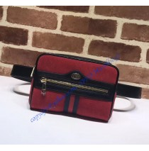 Ophidia small belt bag in Red Suede
