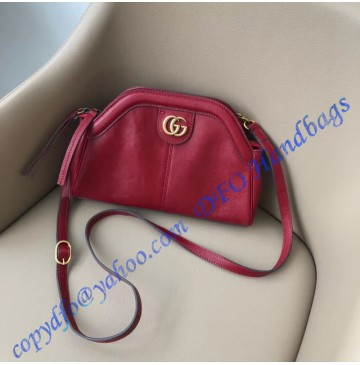 Gucci RE(BELLE) Small Shoulder Bag in Red Leather