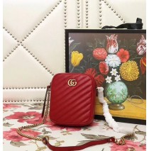 Gucci GG Marmont Mini Shoulder Bag Red