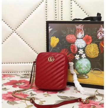 Gucci GG Marmont Mini Shoulder Bag Red