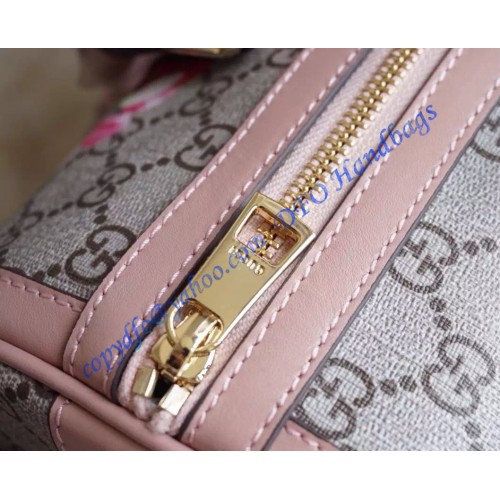 bf593bd3331 Gucci Blooms GG Supreme Boston Bag in Pink Leather Trim – LuxTime ...