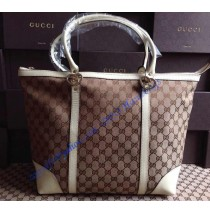 Gucci lovely medium tote with heart-shaped interlocking G GU257068C white