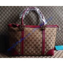 Gucci lovely tote with heart-shaped interlocking G GU257069C red