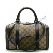 Gucci Vintage Web Boston GU269876C brown