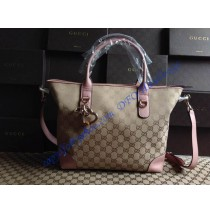 Gucci Heart Bit Charm Top Handle Bag GU269957C pink