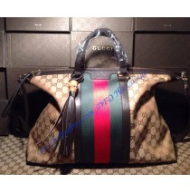 Gucci Rania Top Handle original GG canvas brown