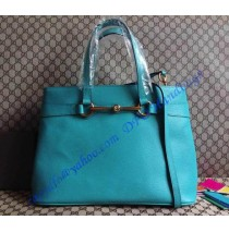 Gucci bright bit blue leather top handle GU319795L blue