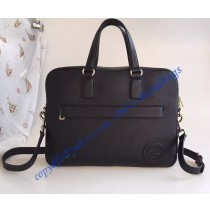 Gucci Leather Briefcase Black