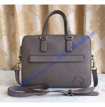 Gucci Leather Briefcase Gray