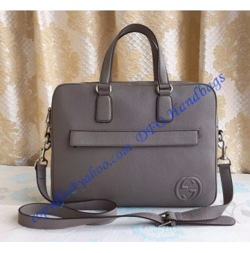 Gucci Leather Briefcase Gray