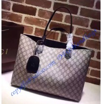 Gucci Reversible beige/ebony GG leather and black leather tote GU368568GG-black