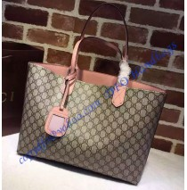 Gucci Reversible beige/ebony GG leather and pink leather tote GU368568GG-pink