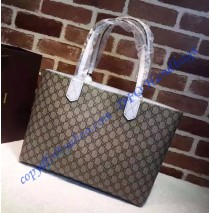 Gucci Reversible beige/ebony GG leather and white leather tote GU368568GG-white
