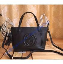 Gucci Soho Leather Top Handle Bag Black