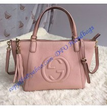 Gucci Soho Leather Top Handle Bag pink