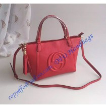 Gucci Soho Leather Top Handle Bag red