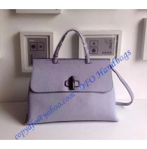 Gucci Bamboo Daily Leather Top Handle Bag Light Purple