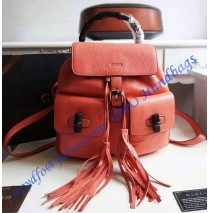 Gucci Bamboo Leather Backpack Watermelon Red