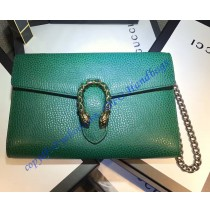 Dionysus Green Leather Mini Chain Bag