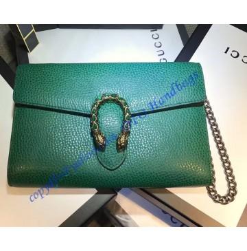 Gucci Dionysus Green Leather Mini Chain Bag