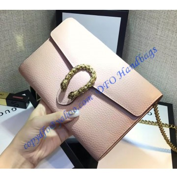 Gucci Dionysus light Pink Leather Mini Chain Bag