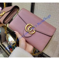 Gucci GG Marmont Pink Leather Mini Chain Bag