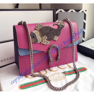 Gucci Dionysus Embroidered Fish Appliques Large Shoulder Bag