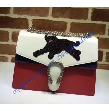 Gucci Dionysus Embroidered Panther Appliques Large Shoulder Bag