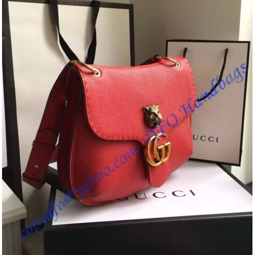 Gucci Gg Marmont Leather Shoulder Bag Gu409154 Red