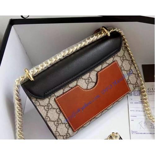 gucci small padlock gg supreme shoulder bag gu409487ca