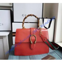 Gucci Dionysus Leather Top Handle Bag GU421999-Red