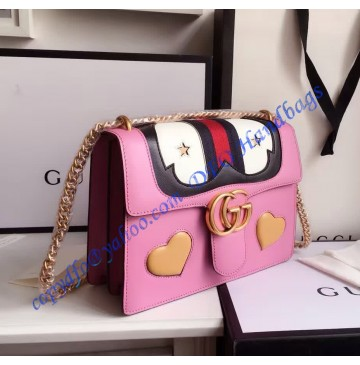 Gucci GG Marmont Leather Shoulder Bag GU431382-pink