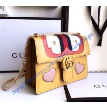 Gucci GG Marmont Leather Shoulder Bag GU431382-yellow