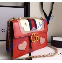 Gucci GG Marmont Leather Shoulder Bag GU431382-red
