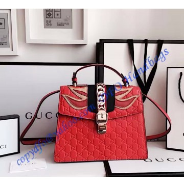 Gucci Sylvie Signature bag GU431665L-red