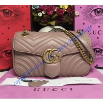 Gucci Small GG Marmont Matelasse Shoulder Bag Tan