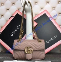 Gucci Mini GG Marmont Matelasse Shoulder Bag Tan