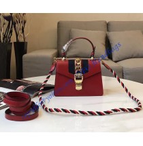 Gucci Sylvie Red Leather Mini Bag