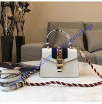 Gucci Sylvie White Leather Mini Bag