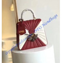 Gucci Queen Margaret Quilted Leather Backpack Red White