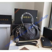 Gucci Sukey Boston Bag with detachable interlocking G charm
