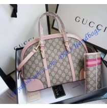 Gucci Nice GG Supreme Canvas Top Handle Bag GU309617-pink