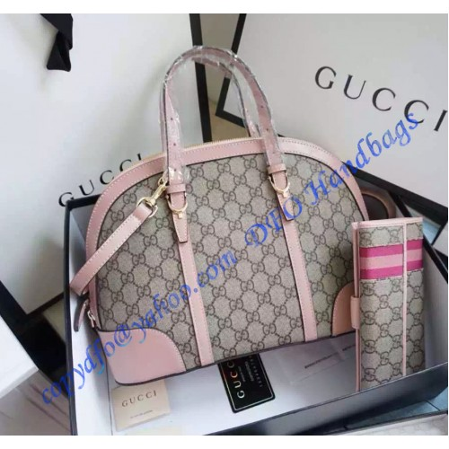 6a668969fe9 Gucci Nice Gg Supreme Canvas Top Handle Bag Gu309617 Pink Luxtime