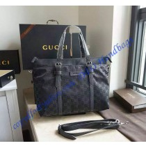 Gucci Black Nylon Guccissima Light Medium Tote