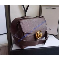 Gucci GG Marmont Leather Shoulder Bag GU401173-brown
