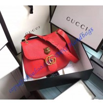 Gucci GG Marmont leather shoulder bag GU409154-red