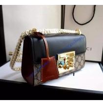Gucci Small Padlock GG Supreme Shoulder Bag GU409487CA-black